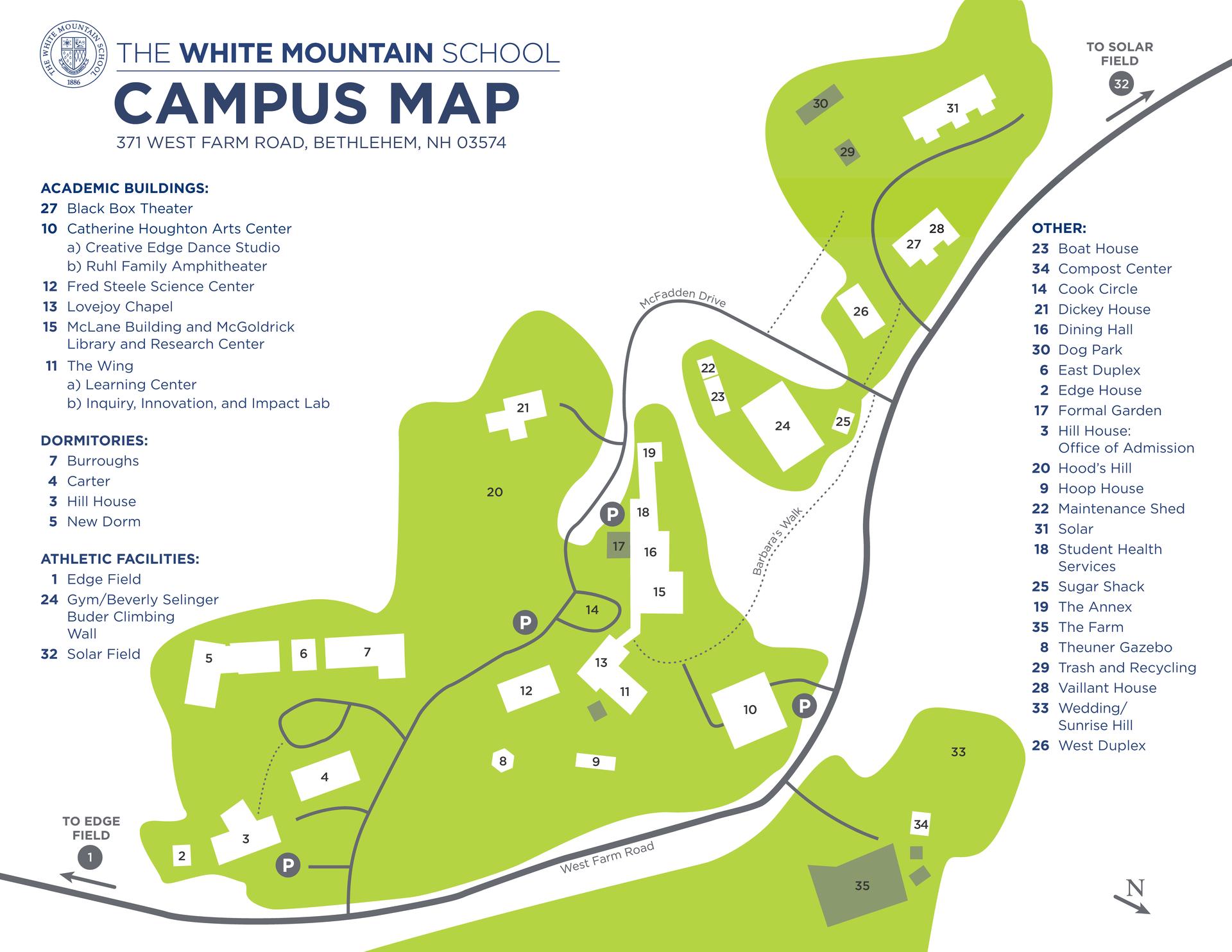 白山校区地图(更新于2021年3月25日)