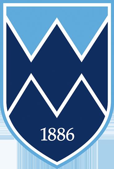 简化的白山学校盾标志.