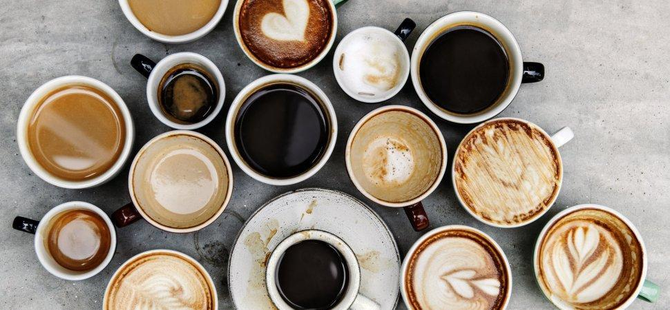 很多咖啡杯 . . .