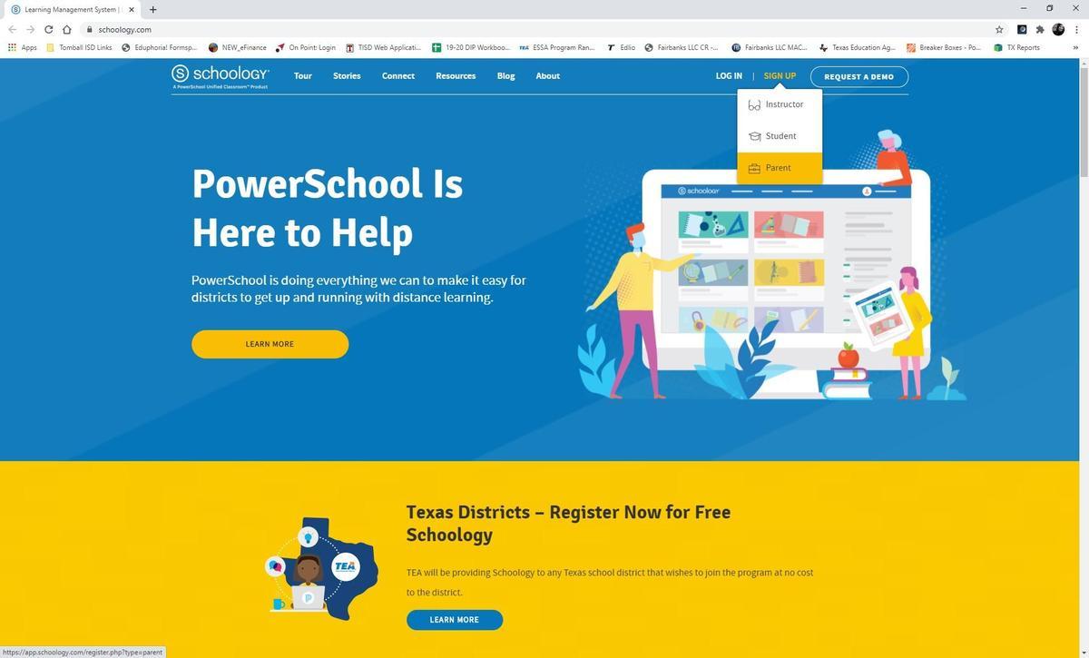 Schoology Homepage