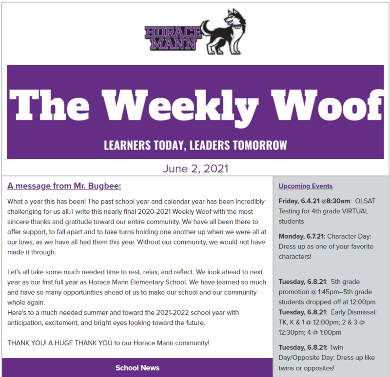 The Weekly Woof for June 2, 2021 Featured Photo