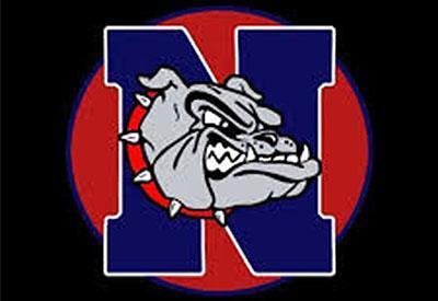 Nampa High School Bulldog logo on black background