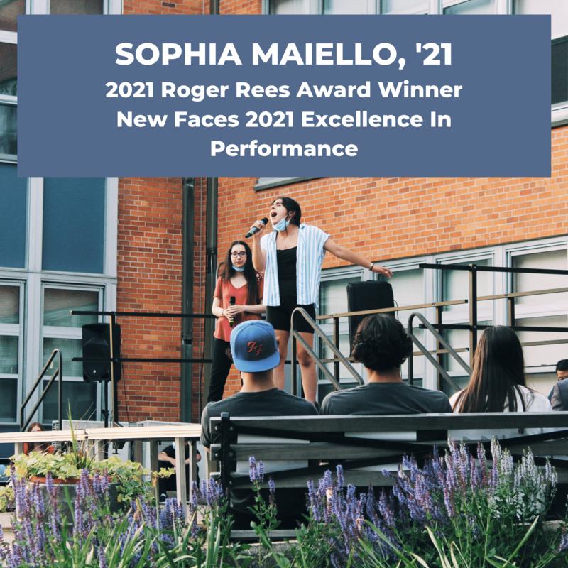 索菲娅·迈耶洛《太阳成官网》凭借2021年的出色表现获得罗杰·里斯新面孔奖 特色的照片