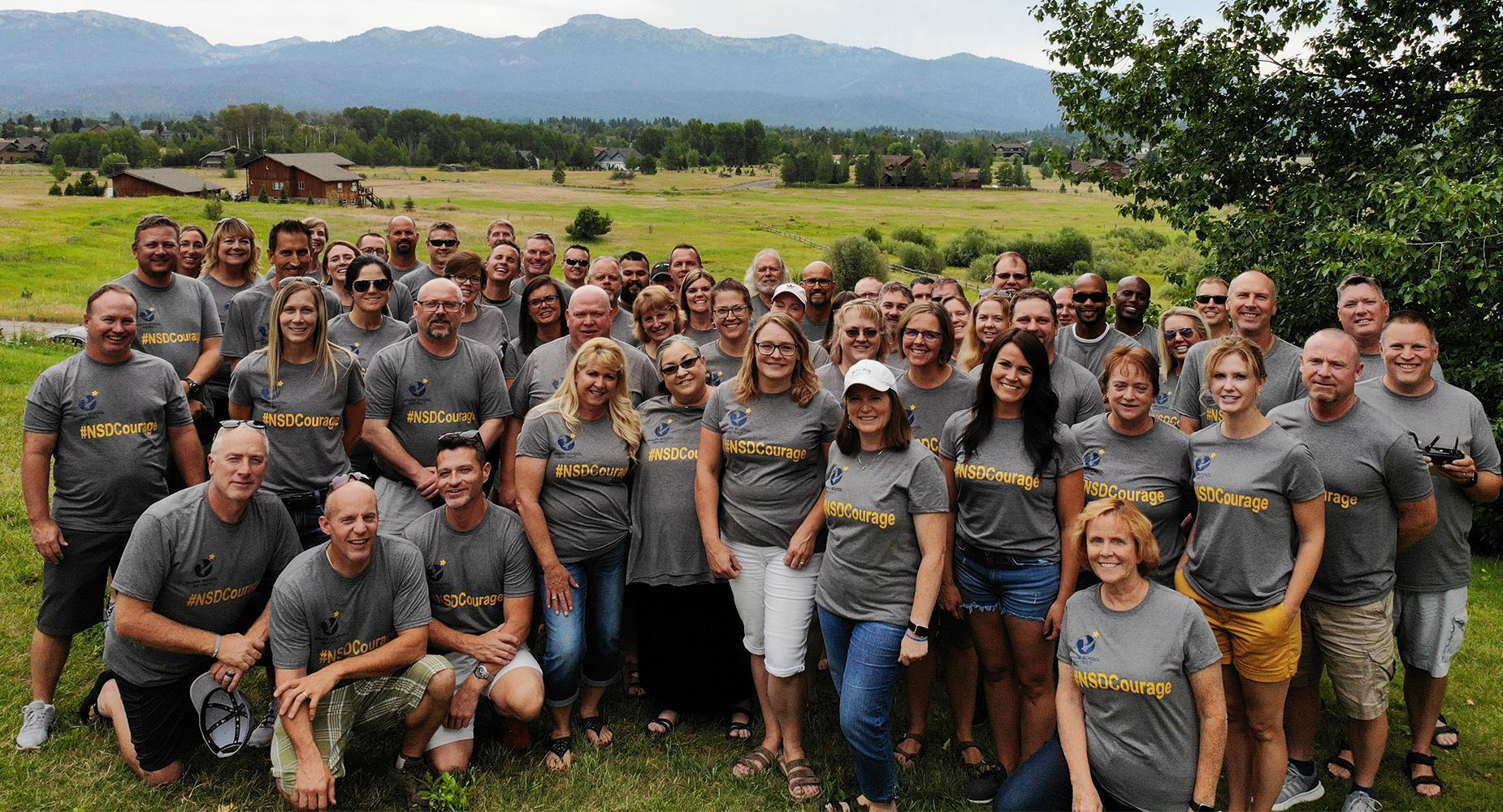 Group photo of District leaders in McCall Idaho