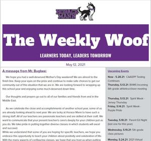 The Weekly Woof Newsletter for May 12, 2021 Featured Photo