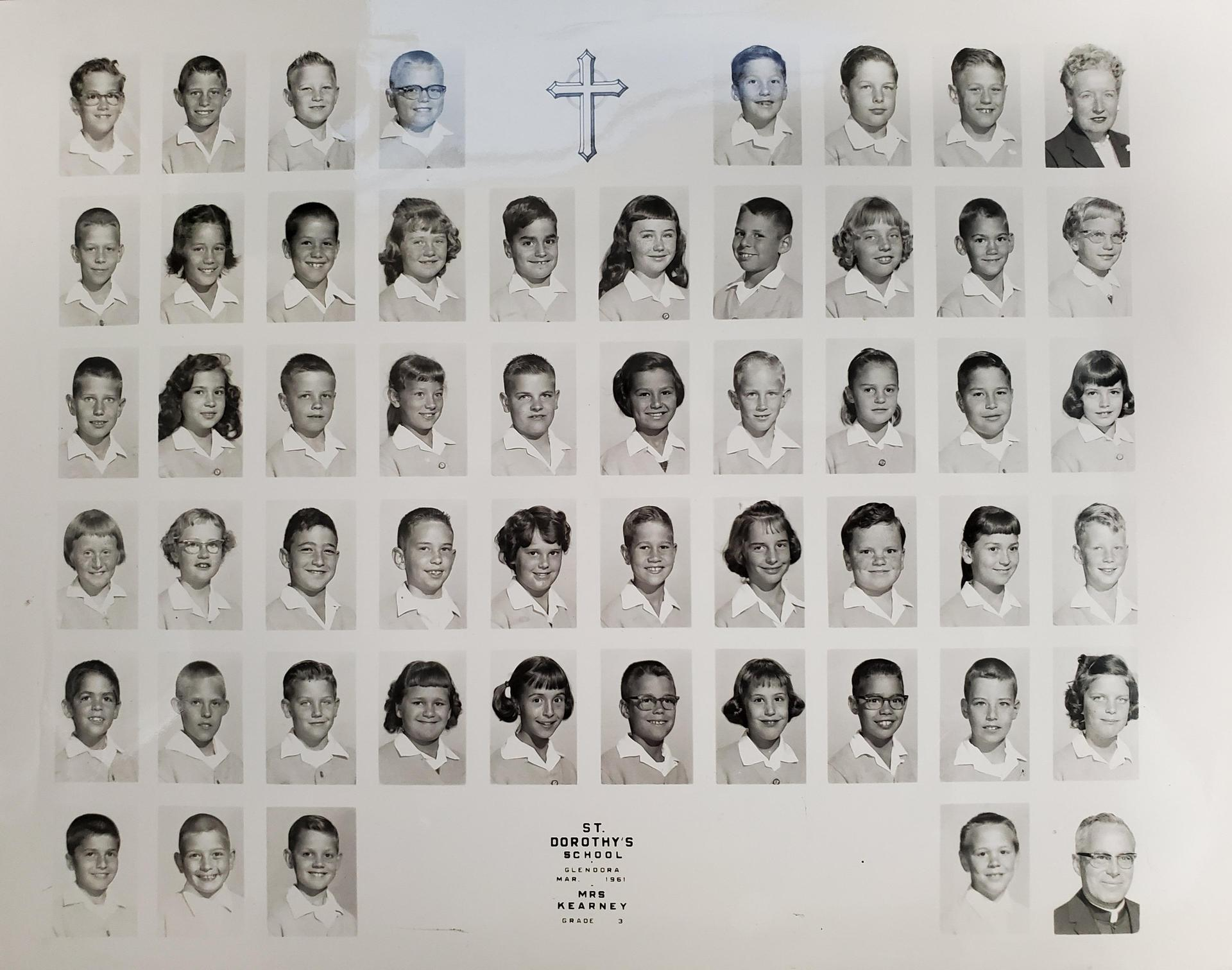 3rd grade class picture from 1961