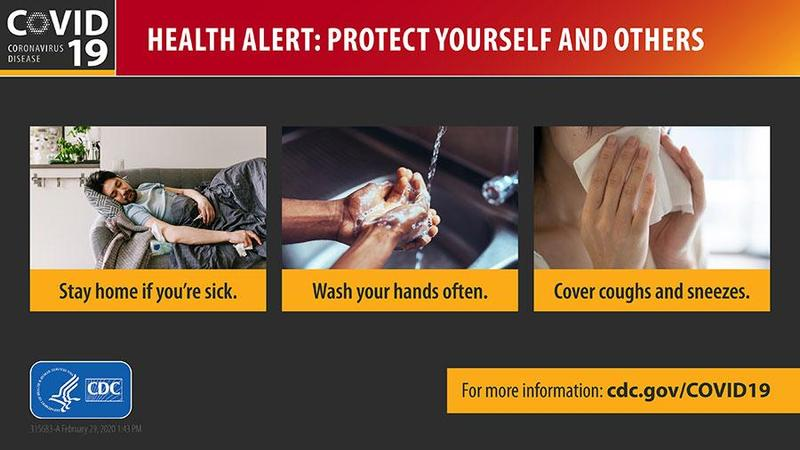 CDC Health Alert: Protect yourself and others