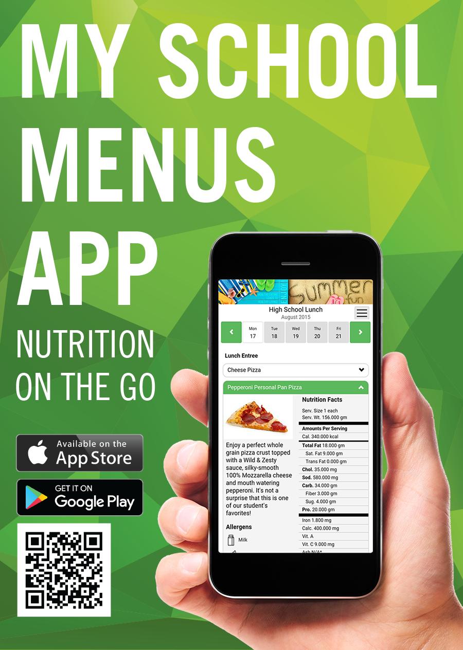 Menu App English graphic
