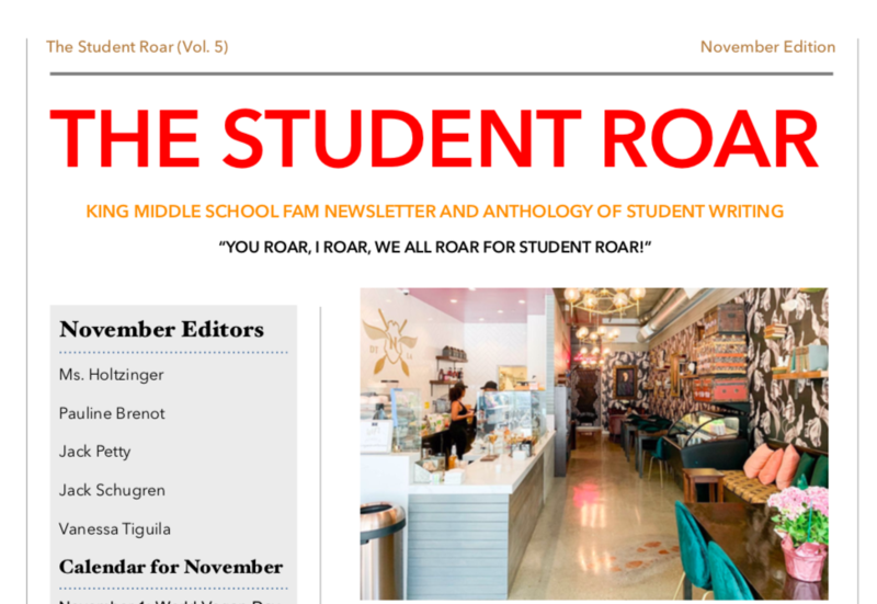 The Student Roar November 2019 Edition Featured Photo