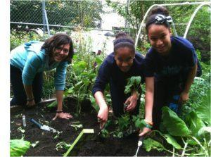 CSS Students in the Garden