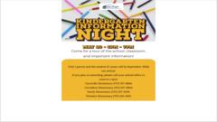 Kindergarten Information Night!