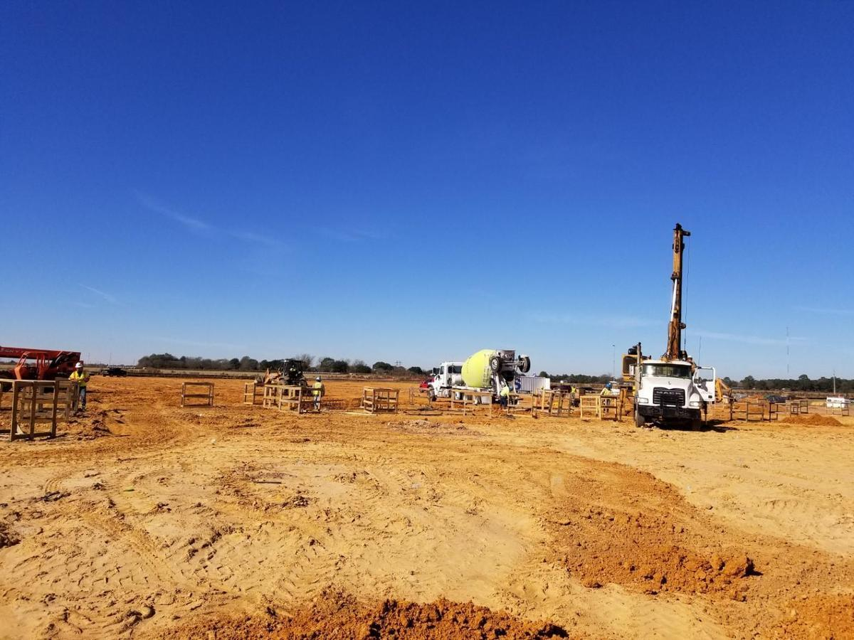 Drilling of piers