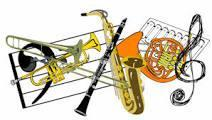 picture of  band instruments in color