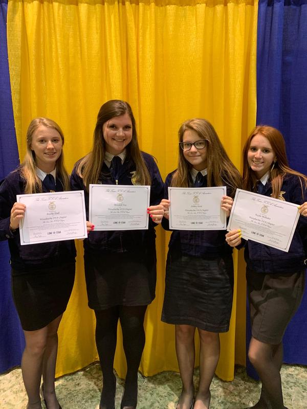 FFA members lone star degree