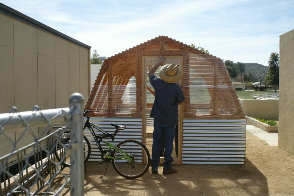 Greenhouse door installation
