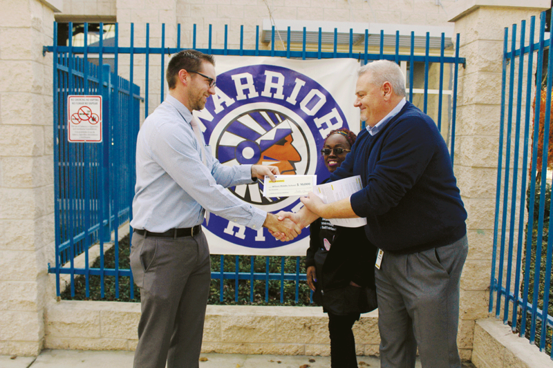 WMS gets grant- photo of vice principal
