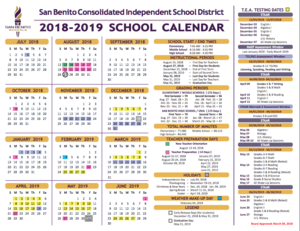 18-19 school calendar