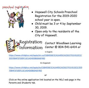 Continuous Registration Preschool
