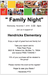 Hendricks Family Night Flyer