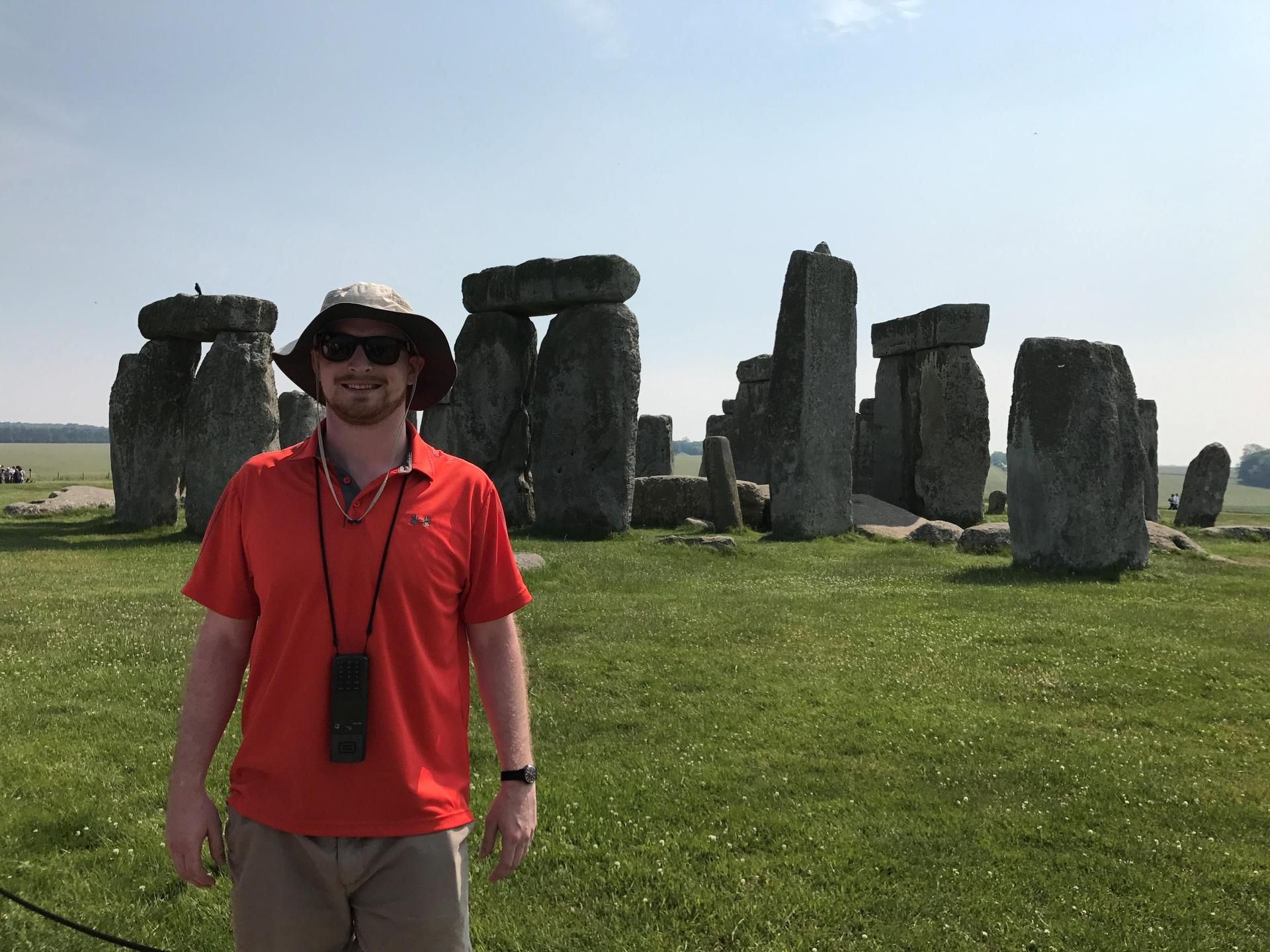 Mr. Miller visits Stonehenge in the South of England.