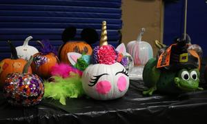 Lots of creativity at Wilson School's Pumpkin Patch.