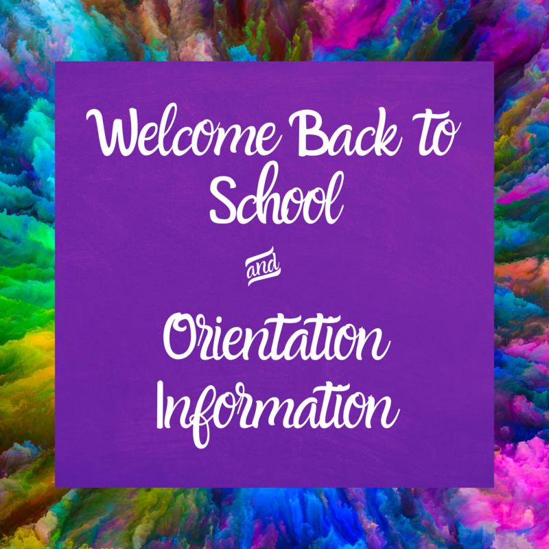 Back to School & Orientation