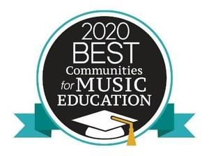 This is an image of the logo for FCSD being recognized as the 2020 Best Communities for Music Education