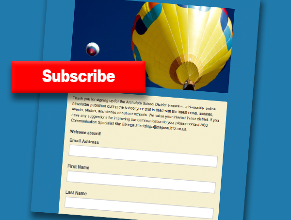 E-news sign-up form