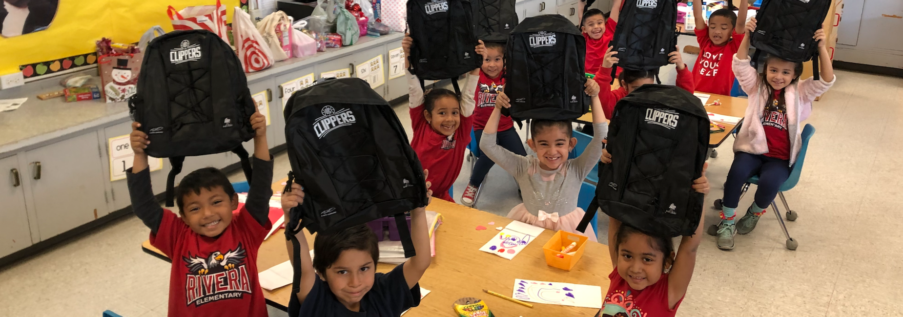 Thank you to the Clippers Foundation for our backpacks!