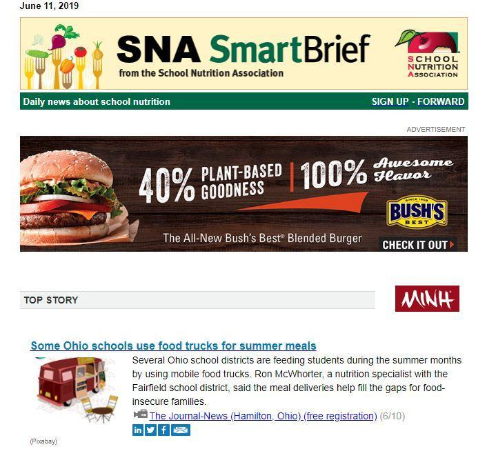 FCSD Summer Lunch Program Gets National Nutrition Association Attention Featured Photo