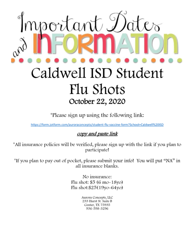 Caldwell ISD Student Flu Shots Featured Photo