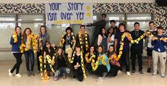 Brewer High School HOPE Squad members created a Hope Chain as part of Hope Week, Feb. 4 through 8.   Students wrote their names on the chain with pledges that said,