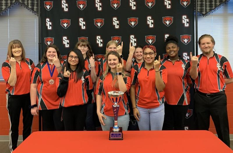 Lady Red Hawk Bowlers State Bound! Thumbnail Image