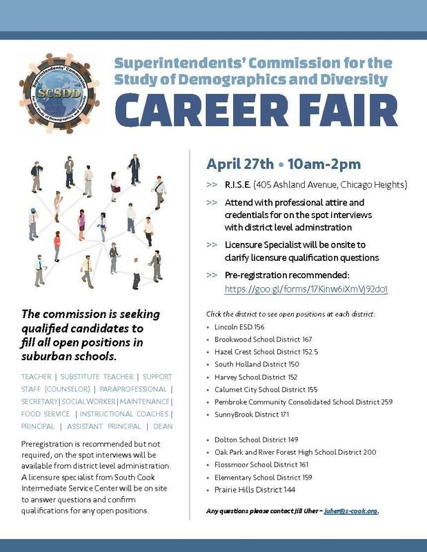 Superintendents' Commission for the Study of Demographics and Diversity Career Fair Featured Photo