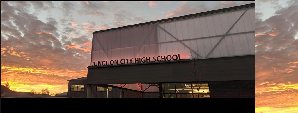 Picture of JCHS during a sunset.