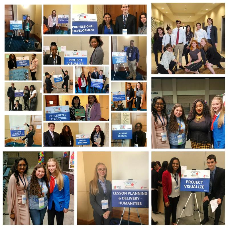 A photo collage showing TAFE students next to competition boards at state competition.