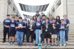 Pictured is the 2018 TMSCA 2nd Place Calculator-  Mission Jr. High School Calculator team.