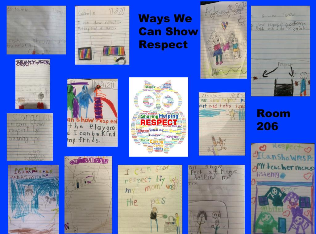 Room 206 draws ways we can show respect
