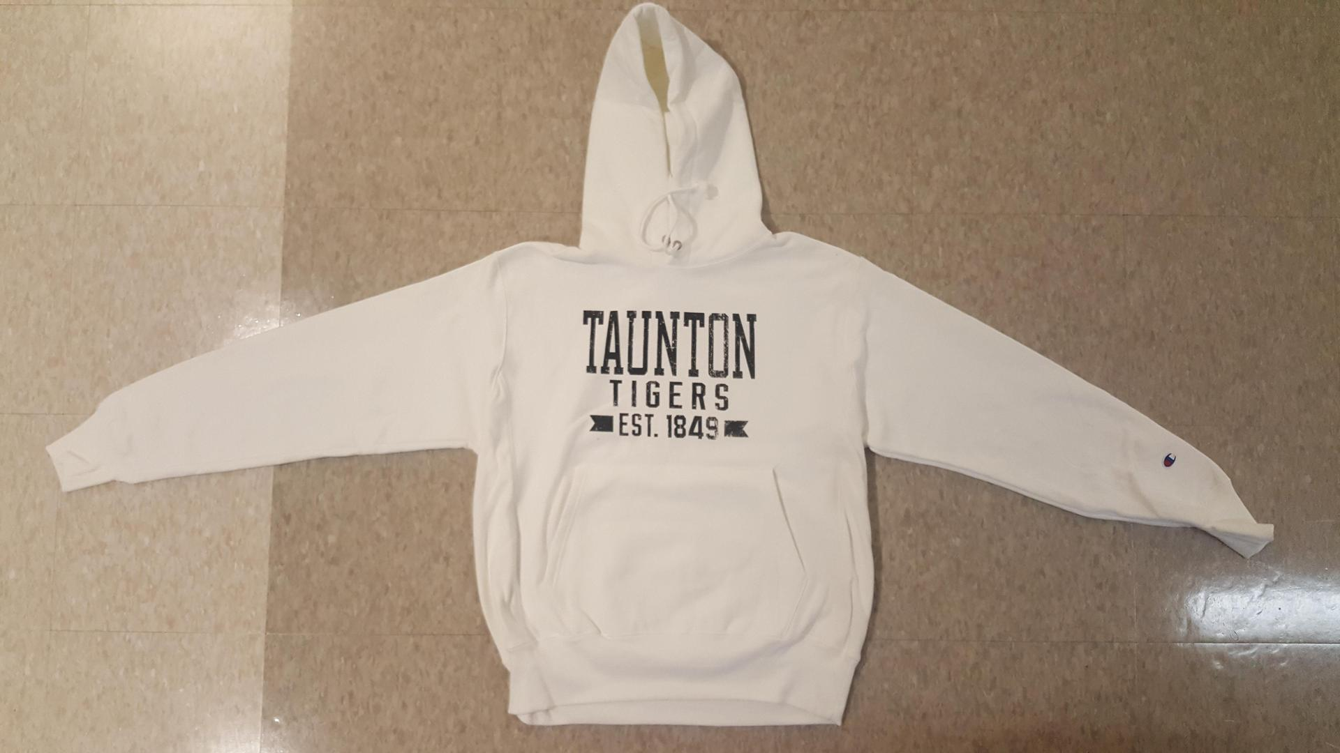 Champion old style thick hoodie  Contrasting black and white screenprint Black White Sm-2x  40.00