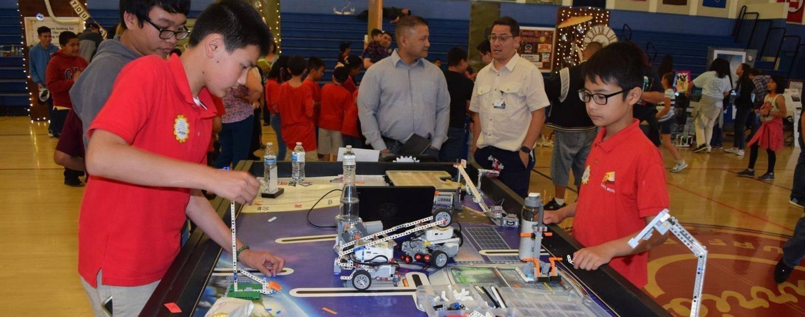 EMCSD Robotics/Gate team showcasing their lego engineering