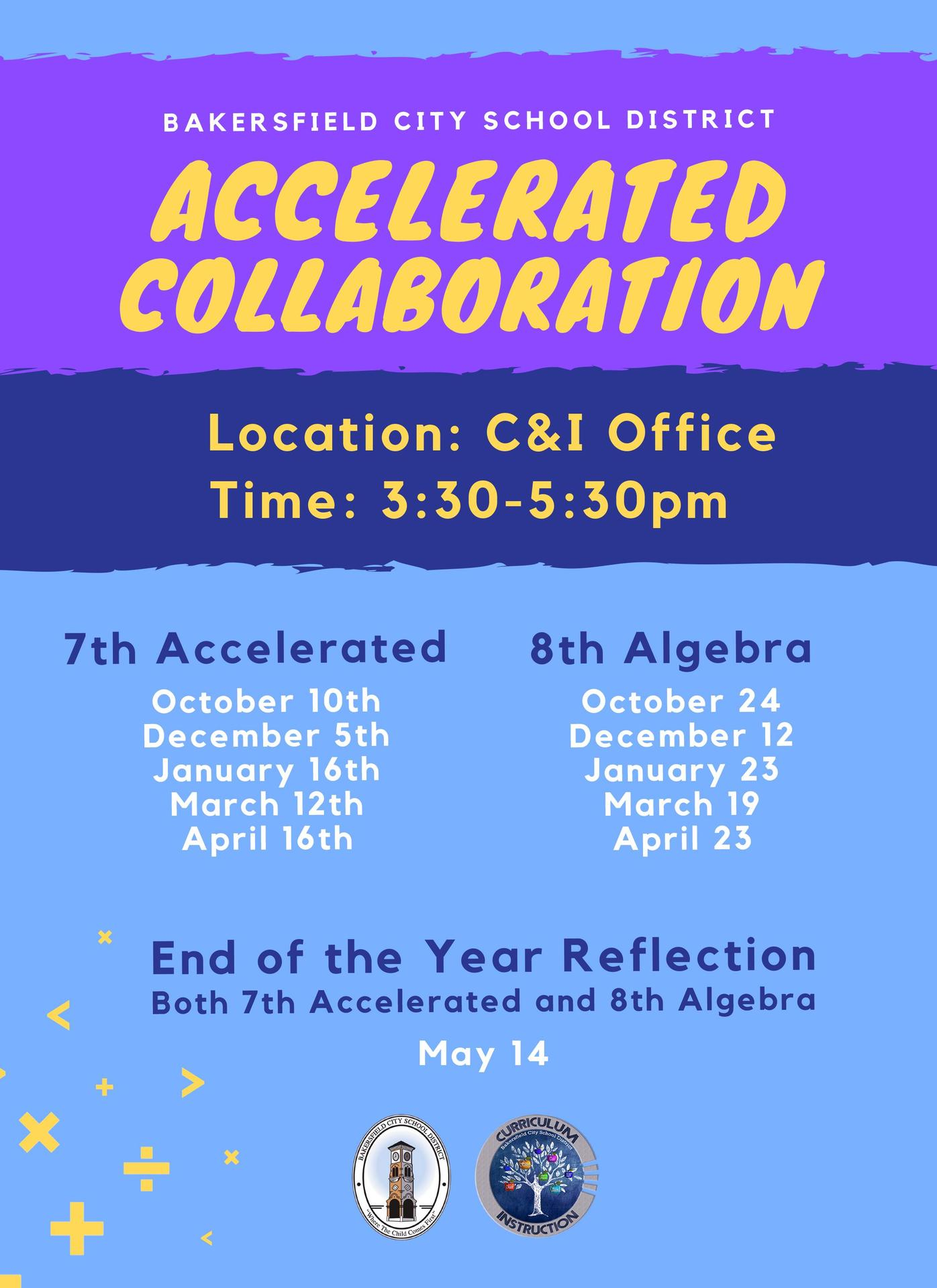 Accelerated Math Collab Meetings