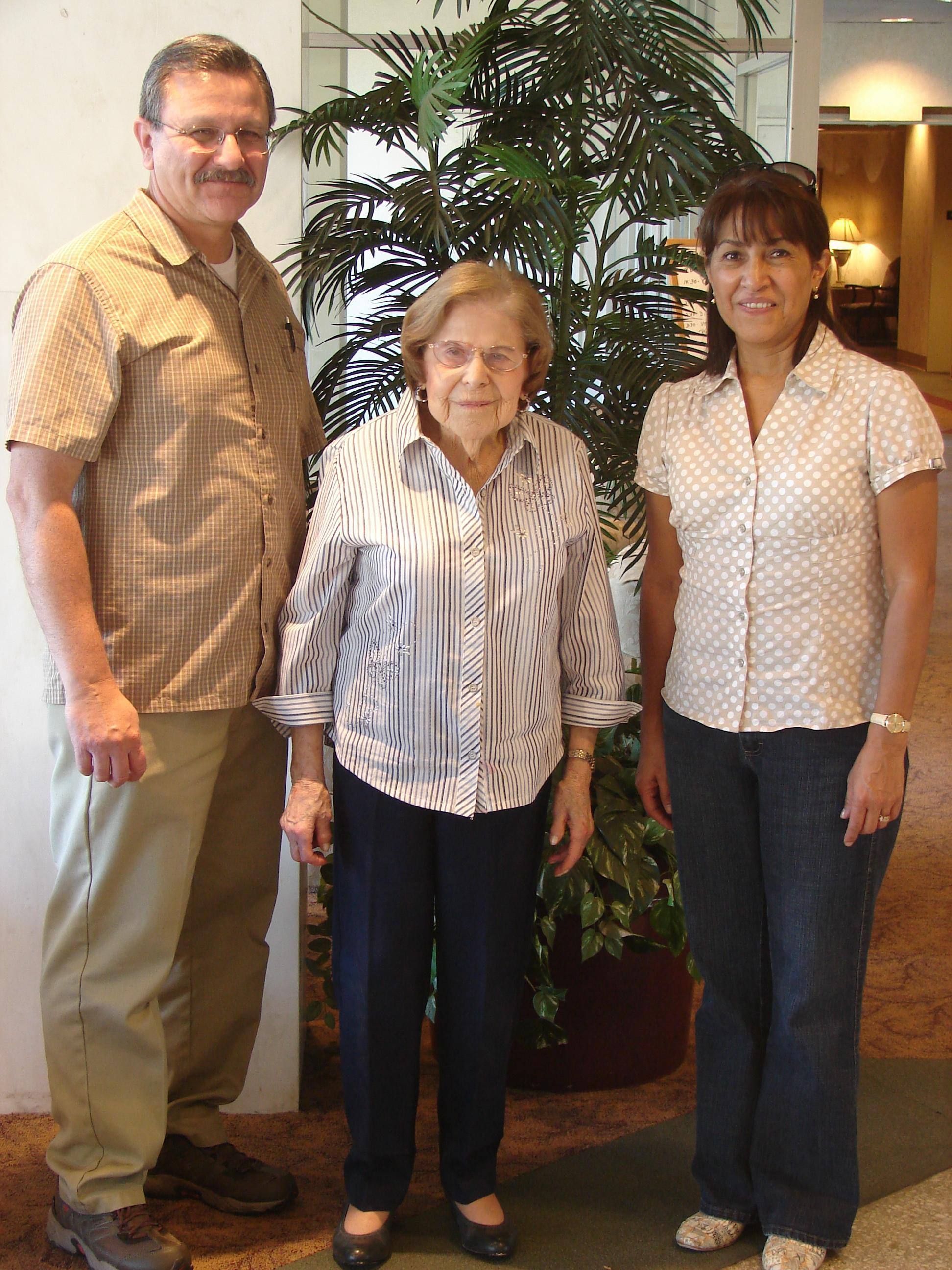 Mr. Garcia, Librarian and his wife meet Esther Struman