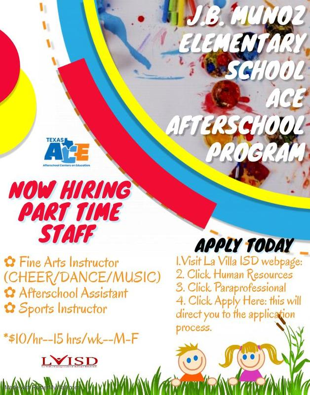 ACE PROGRAM: NOW HIRING THREE PART TIME PROGRAM ASSISTANTS Featured Photo
