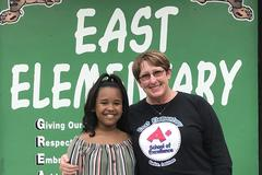 East Elementary School is proud to announce our 4th-grade student of the year, Riley Poullard, and our teacher of the year, Mrs. Vanessa Cormier. Mrs. Cormier teaches fourth-grade science and social studies at East Elementary.