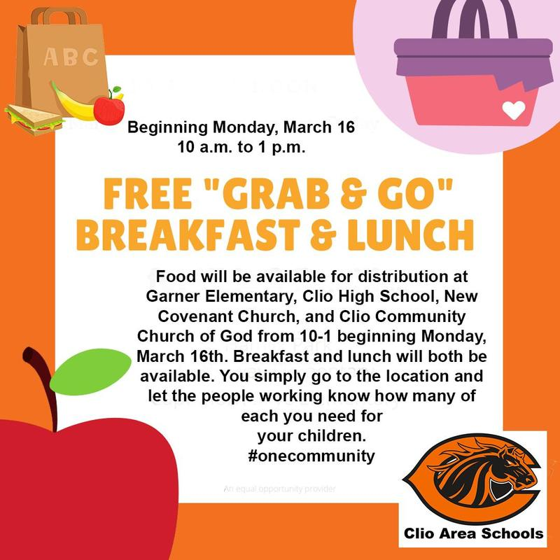 Flyer announcing free breakfast and lunch program
