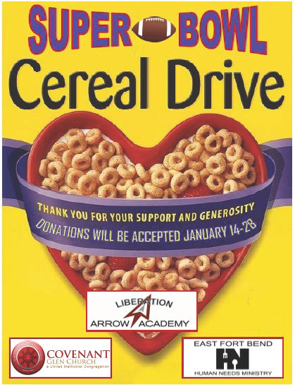 Super Bowl Cereal Drive Featured Photo