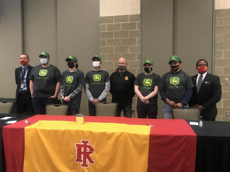 RIHS Students Sign On for Welding Apprenticeships Featured Photo