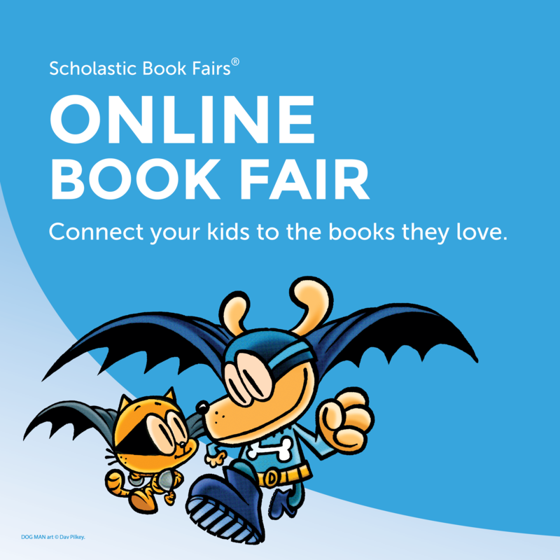 Online book fair with Dog Man