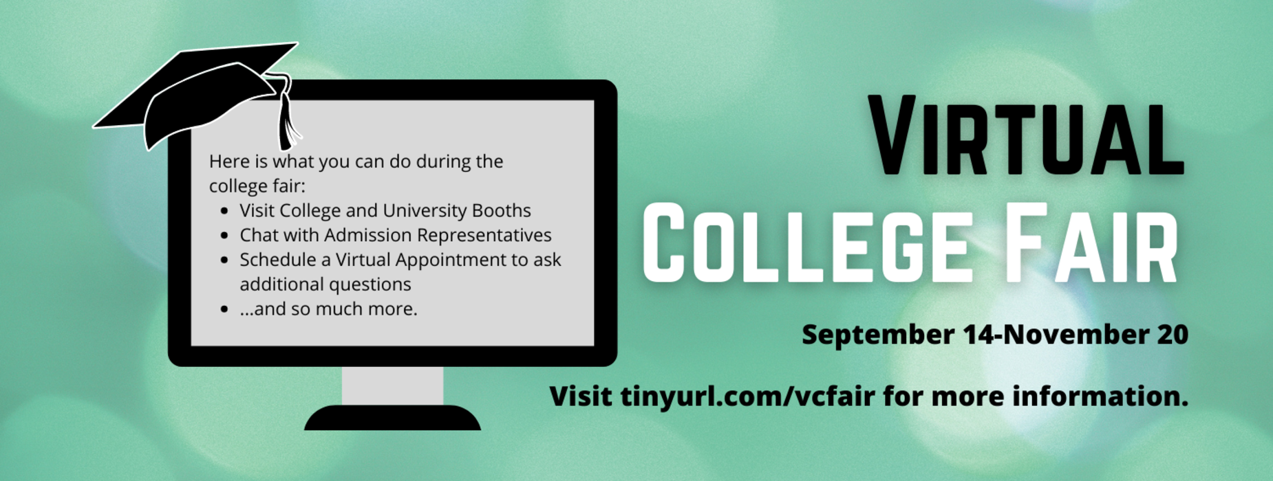 Virtual College Fair advertisement