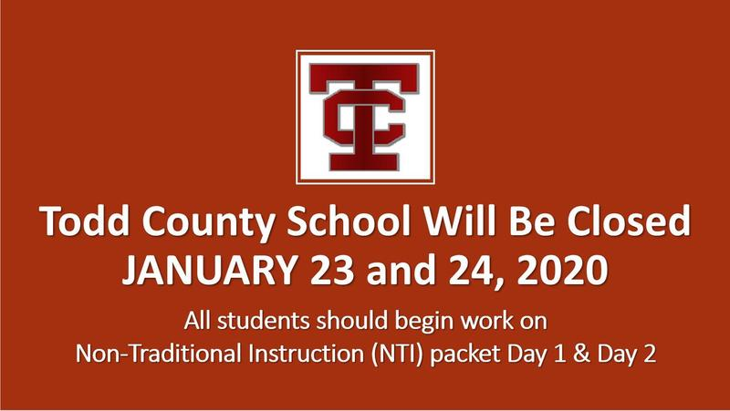 Todd County Schools CLOSED JANUARY 23-24, 2020 Featured Photo